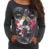 Misfits Floral Girls Pullover Top