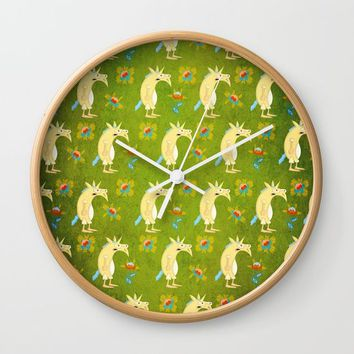 Flowers & Unicorns Wall Clock by That's So Unicorny