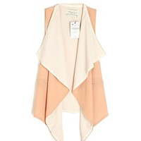 Color Block Irregular Chiffon Vest