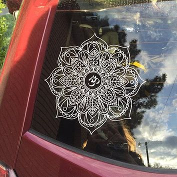 Mandala OM symbol - Trippy Car Decal or Wall Art Sticker
