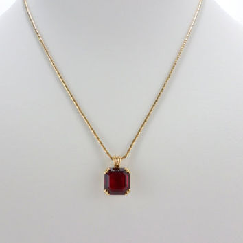 Garnet Necklace Avon January Birthstone From Ednacatherine On