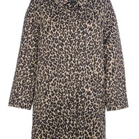 WEEKEND BY MAX MARA 'Lega' leopard print coat
