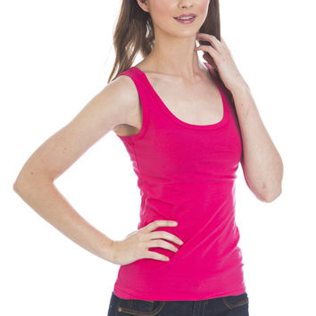 Basic Tank Top - Hot Pink