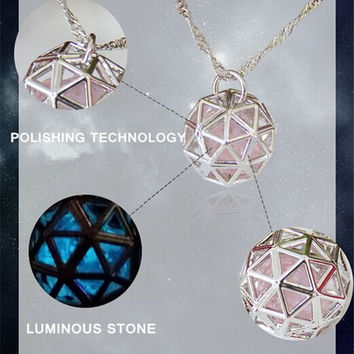 Sacred Geo Glow in The Dark Necklace Pendant