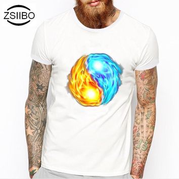 ZSIIBO TX216 Summer Fashion digging the China Wind gossip Design T Shirt Men's High Quality Custom Printed Tops Hipster Tees