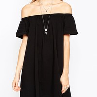 ASOS Gypsy Off Shoulder Mini Dress
