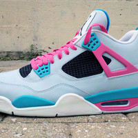 "SWGNT — ""South Beach"" Jordan 4 Custom - Ecentrik Art Custom"