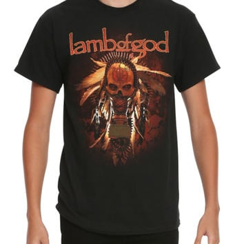 Lamb Of God Gas Mask Skull T-Shirt