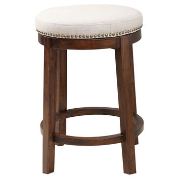 Ari Linen Counter Stool, Ivory, Bar & Counter Stools