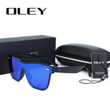 OLEY Brand Vintage Style Sunglasses Men Flat Lens Rimless Square Frame Women Sun Glasses Mirror colorful Gafas YG460