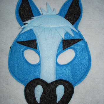 Children's BLUE HORSE Farm Animal Felt Mask, Brown Bear, Brown Bear, What Do You See?