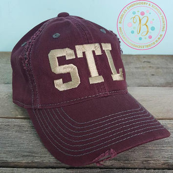 STL distressed hat- Fall colored hat- St. Louis apparel