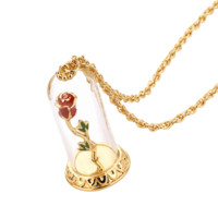 Disney - Beauty and the Beast - Enchanted Rose Necklace - Gold