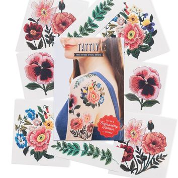 Tattly Temporary Tattoo Set |The Embroidery Florals
