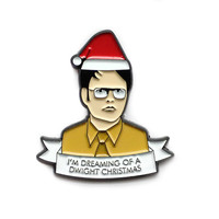 Dwight Schrute Christmas enamel lapel pin