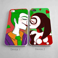 Joker And Harley Quinn Sweet Kissing Marvel Partner In Crime Couples Phone Case iPhone 4/4S, 5/5S, 5C Series - Hard Plastic, Rubber Case