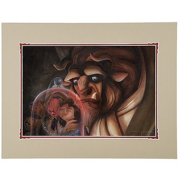 Disney Parks Beauty And The Beast Precious Time by Wilson Deluxe Print New
