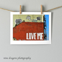 Modern Wall Decor, Love Me, New York City Photo, Graffiti Art, NYC Art, Urban Photography, Street Art Photograph, Red Art Print,Red Wall Art