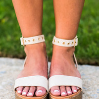 I'll Be Seeing You Platform Sandals, Nude