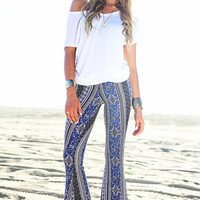 Leaha Tribal Bell Bottom Pants