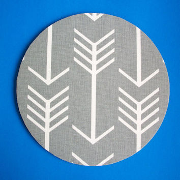 Mouse Pad mouse pad / Mat - Gray white arrows round or rectangle office accessories desk home decor