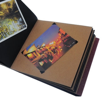 "DIY Photo Album - Life Beginning Scrapbook Album * Free 1 Album Sticker 7.5"" x 8"" (Size: 20cm by 19.5cm, Color: Red-brown) = 1705626628"