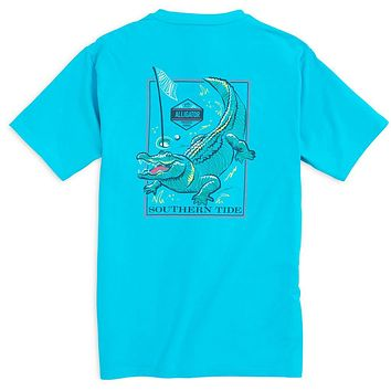 Predator Series Alligator Tee Shirt in Turquoise by Southern Tide