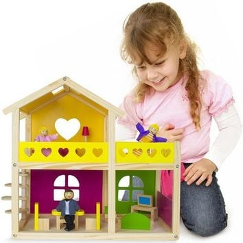 Wooden Wonders Cozy Cottage Dollhouse