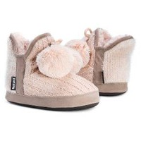 Women's MUK LUKS® Pennley Pom Pom Sweater Knit Bootie Slippers