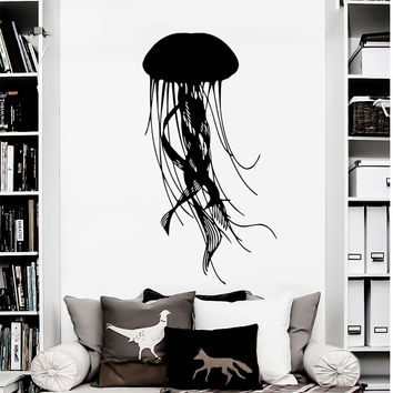 Wall Decal Jellyfish Vinyl Stickers Octopus Decals Nautical Art Home Decor D279
