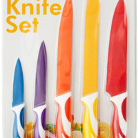 colored multi-purpose kitchen knife set