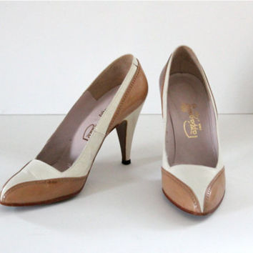 Vintage 50s Pappagallo High Heel Dual Tone Shoes