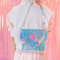 Woman Bags 2017 Silver Women Shoulder Bag Hologram Small Ladies Bags Clear Satchel Girls Summer Crossbody Bag Mini Handbag