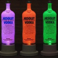 Absolut Vodka Color Changing LED Remote Controlled Eco Friendly rgb LE