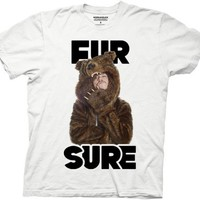 Workaholics - Mens Fursure Blake Sungl Bearcoat T-shirt in White