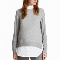 MAMA Sweater with Collar - from H&M