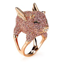 kate spade new yorkPavé Pig Cocktail Ring