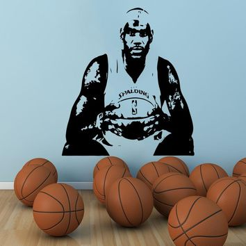 YOYOYU Large basketball home decor famous player jersey stencil cavaliers cavs cleveland king James Wall Sticker wall decal J897