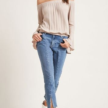 Off-the-Shoulder Knit Top