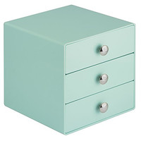 InterDesign 3 Drawer Storage Organizer for Cosmetics, Makeup, Beauty Products and Office Supplies, Mint