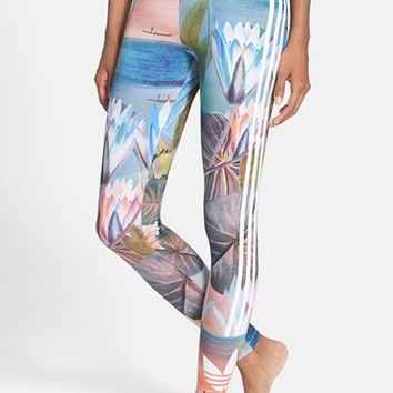 Women's adidas Originals 'Curso D'Agua' Print Three Stripe Leggings
