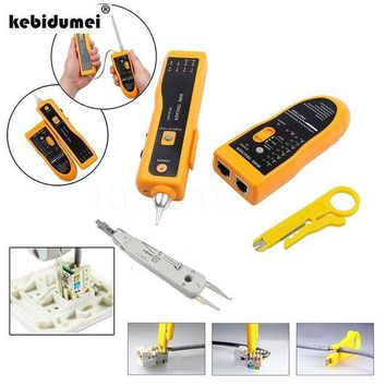 CREYLD1 New Multi Function Cable Tester Wire Tracker Tracer Network RJ11 RJ45+ Network UTP Cable Cutter Stripper+KRONE Cable Crimper