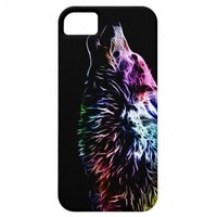 Rainbow Fractal wolf iPhone 5 Case