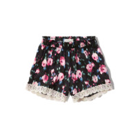 lace drapey shorts