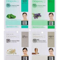 Pk of 4 Korean Beauty Dermal Brand Facial Sheet Masks