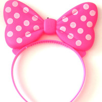 Polka Dot Bow Light Up Headband
