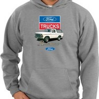 Ford Truck BRONCO 4x4 Classic Adult Hooded Pullover Sweatshirt Hoodie Hoody - Ahtletic Heather