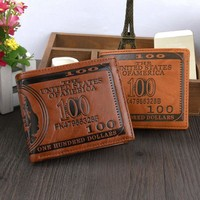 Classic Men Creative Bifold PU Leather wallet Credit/ID Card Holder Slim Coin Purse