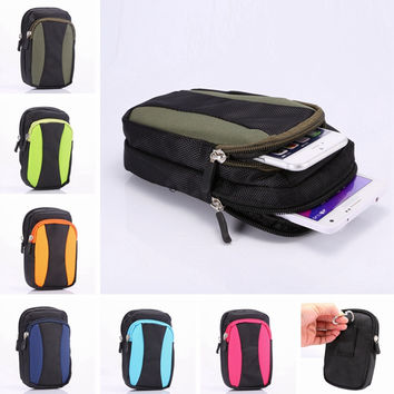 1 PCS NEW Sports Wallet Mobile Phone Bag Outdoor Cover Case For Multi Phone Model Hook Loop Belt Pouch Holster Bag Free shipping