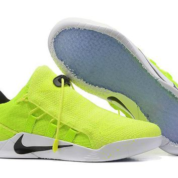 qiyif Nike Zoom Men's Kobe 12 A.D.NXT Knit Basketball Shoes Fluorescent Green 40-46